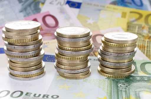 Eurostücke und Euroscheine