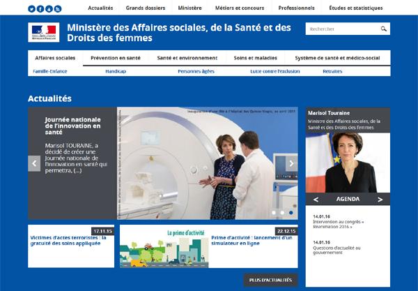 Le ministère de la santé revisite son site web