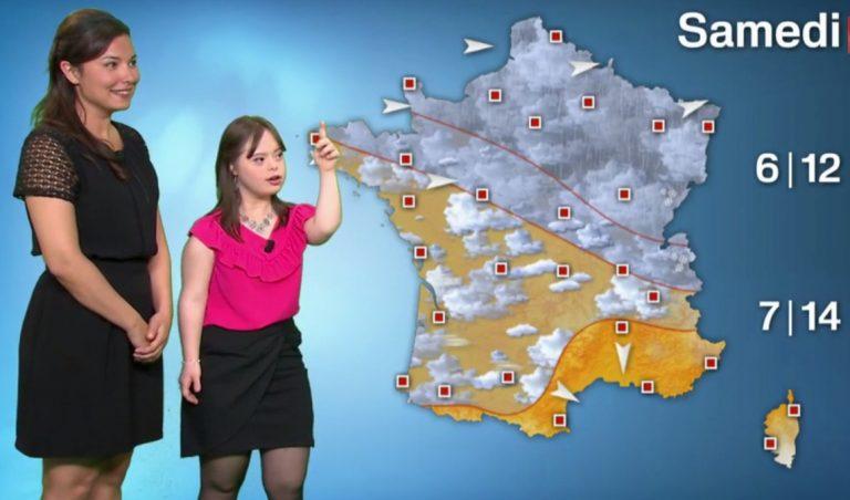 Mélanie Ségard, atteinte de trisomie 21, a présenté la météo sur France 2